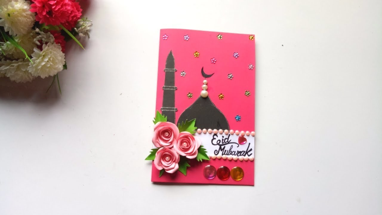 How to make Eid card. DIY Eid card.make beautiful Eid card