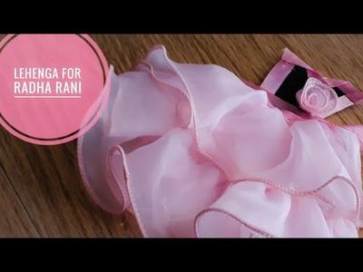How to make Lehenga for Radha Rani|Mata Rani|Durga Ma|Step by Step tutorial|| Quicky Crafts