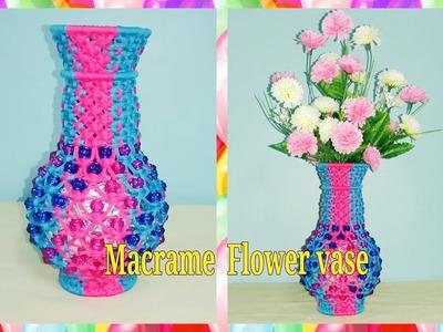 How to make macrame flower vase(silmple design for beginners)