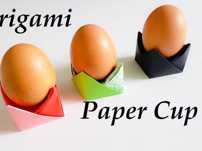 How to make Origami Egg Tray || Origami Paper Egg Cups || Origami Paper cup Tutorial