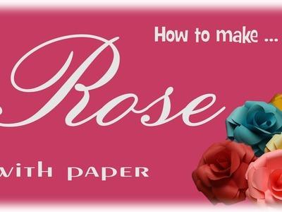 How to make paper rose.как сделать бумажную розу