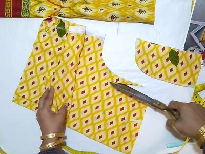 How to make Peplum frock stylish & comfortable frock for girls cutting and stitching tutorial