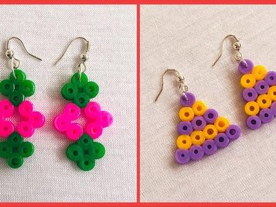 How To Make Perler Bead Earrings At Home   Perler Bead Earrings Tutorial