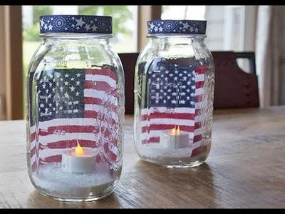 How to Make Quick Patriotic Luminaries