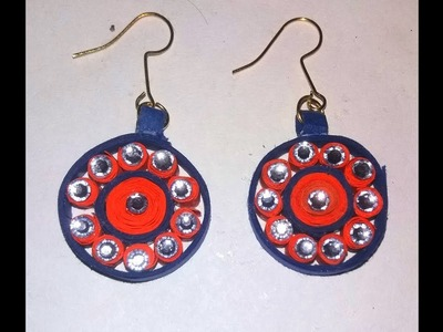 How to make quilling flower earring - DIY Crafts