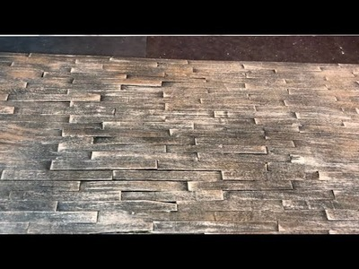 How to Make Realistic Wood Flooring for Dioramas and Miniatures