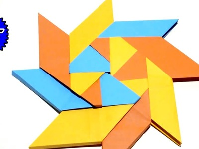 How to make Simple & Easy Paper Star | Origami flower
