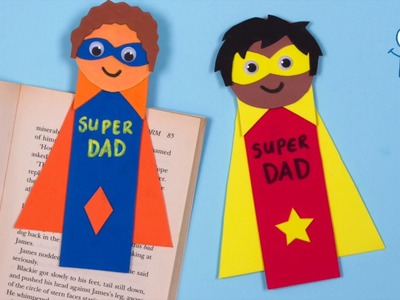 How to make Super Dad Foam Bookmarks | Father's Day Crafts