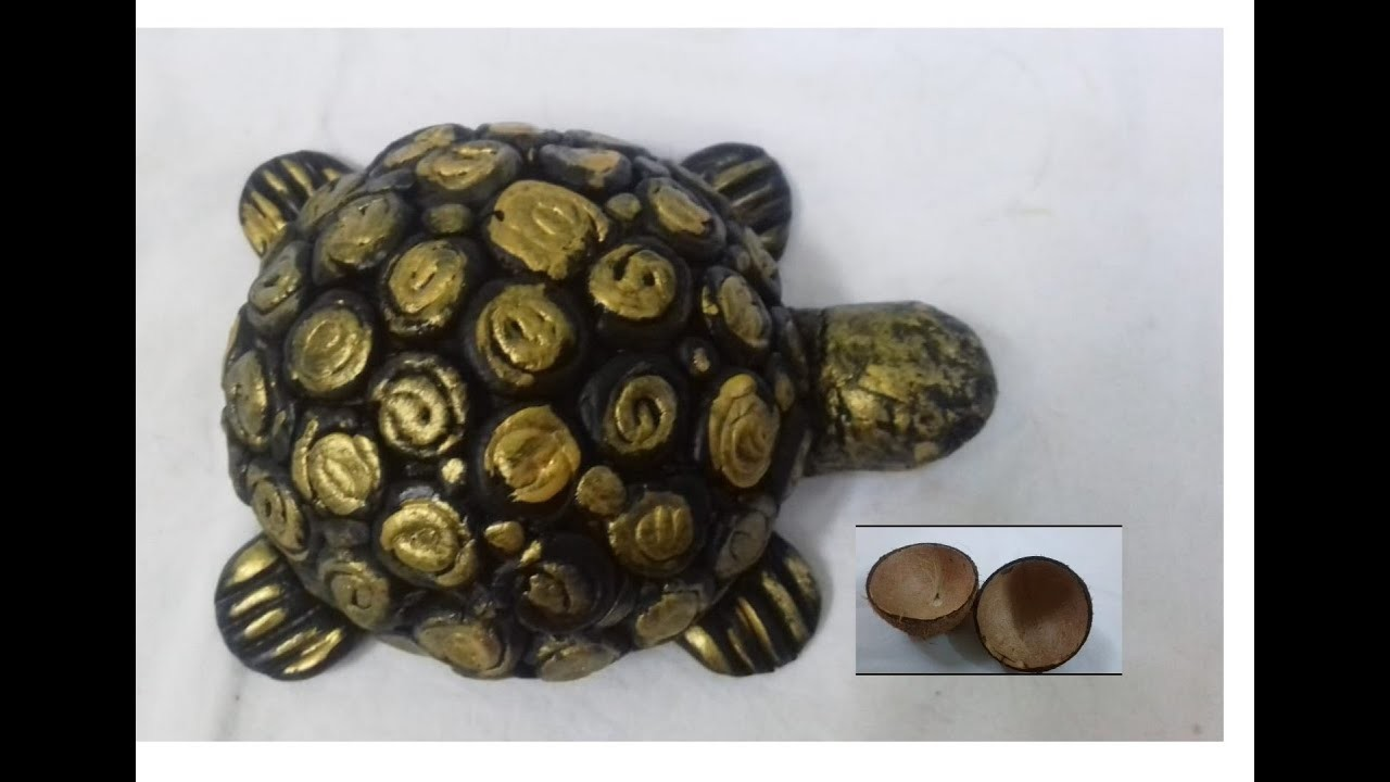 How to make tortoise with coconut shell - Best out of waste - Coconut shell crafts -SS Art Creations
