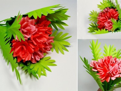 How to Make Very Beautiful Flower Bouquet with Paper!! Decoration Idea   Abigail Paper Crafts