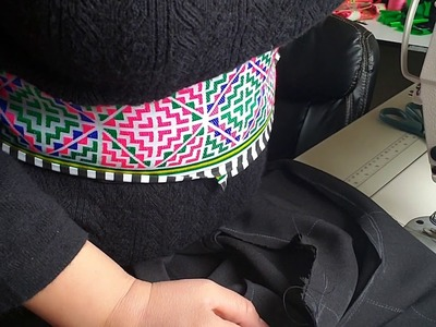How to makes Hmong clothing part2