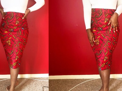 HOW TO SEW STRAIGHT PENCIL SKIRT, WITH LINING!!? NO PATTERN!! {Tutorial}