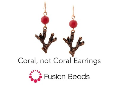 Learn how to create our Coral, not Coral Earrings by Fusion Beads