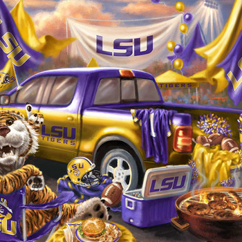 CRAFTS LSU Tigers Tailgate Cross Stitch Pattern***LOOK***