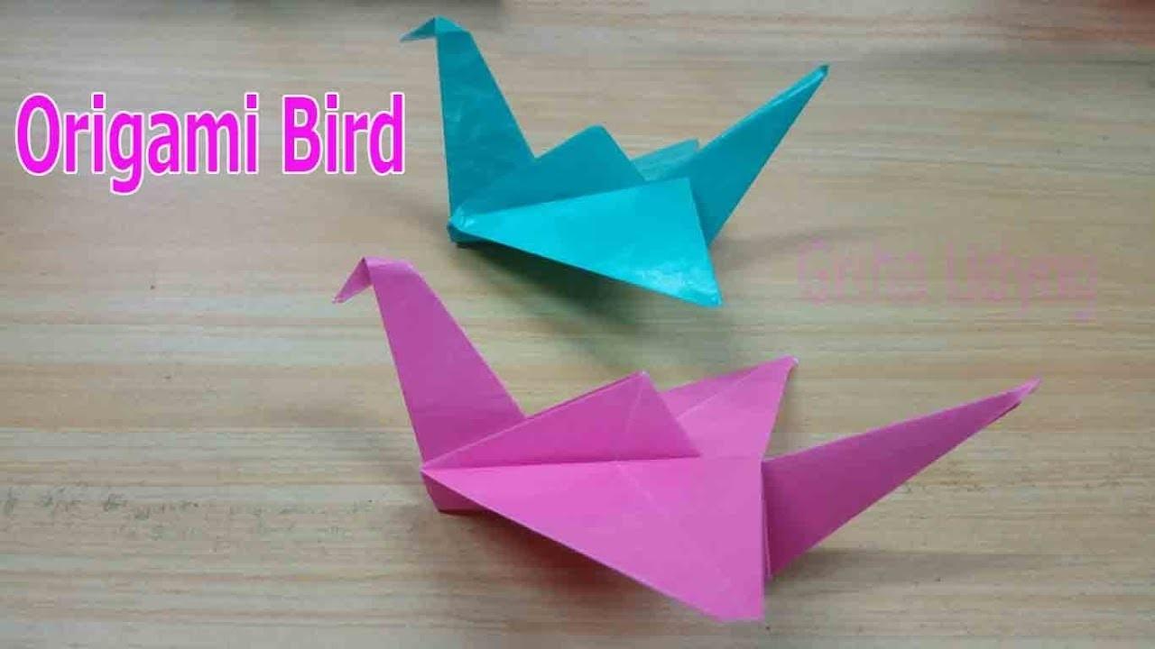 Origami || How to Make Origami Flapping Bird || Griha Udyog