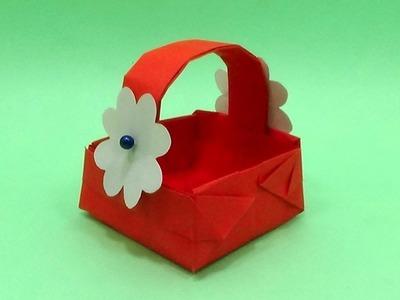 Paper Basket Making At Home - DIY How To Make Flower Basket for Easter