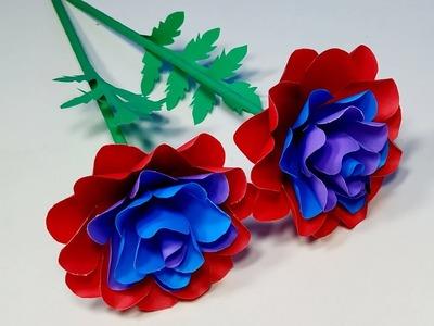 Paper Flower: How to Make Stick Flower Beautiful Idea!! Flower Making Tutorial  Abigail Paper Crafts