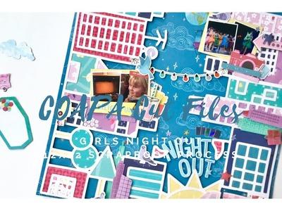 12x12 Scrapbook Process - #145 Girls Night Out