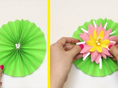 14 DIY PAPER FLOWERS || HOW TO MAKE PAPER FLOWERS VERY EASY