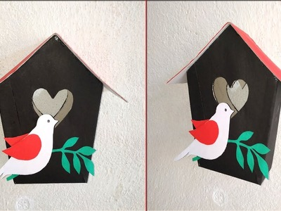 Birds home decoration ideas|| How to make birds home for home decoration|| DIY paper crafts
