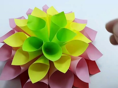 Crafts - How to make  paper Flowers Easy