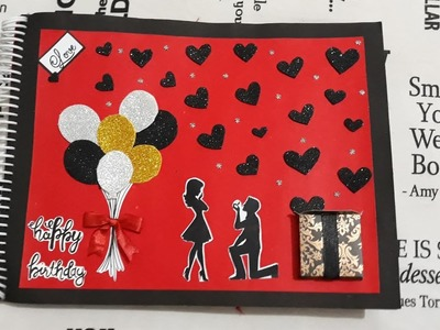 Cutest birthday scrapbook.anniversary gift.romantic gift for boyfriend