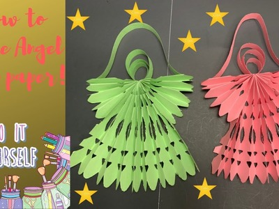 DIY Angel || How to make paper angel for X-mas.