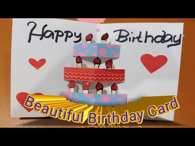 DIY Beautiful birthday Card l How to make pop up Cake Card l tutorial for beginner