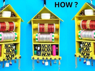 DIY: How to make Bangle Holder at home | Best out of waste | Easy jewellery organizer