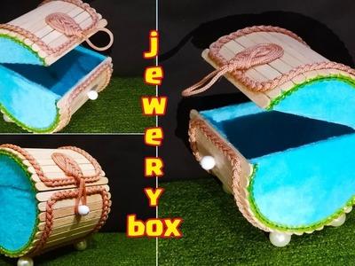 DIY, How to Make Round jewelry Box,Popsicle Stick Crafts, Ice cream stick Box, craft ideas