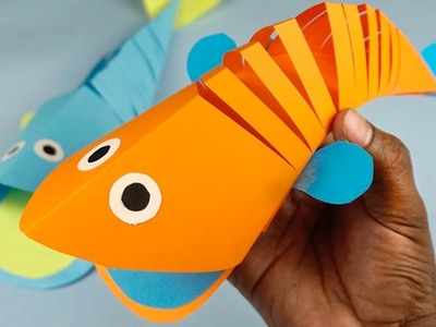 DIY | Moving Paper Fish | Paper Ideas For Kids | How to Make Paper Crafts For Kids !