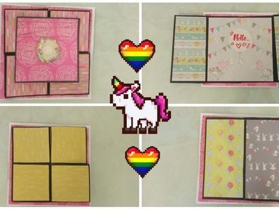 Flip Flap Photo Album tutorial.Cards for scrapbook.Scrapbook card idea.Photo album tutorial.Tutorial