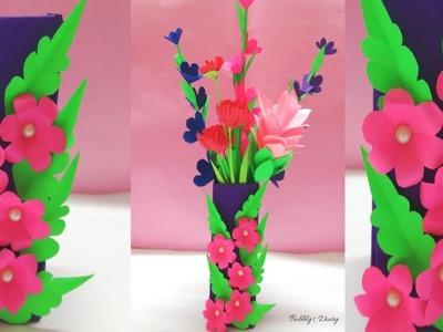 Flower Vase - How to Make A Flower Vase At Home - Flower Vase Decoration Ideas