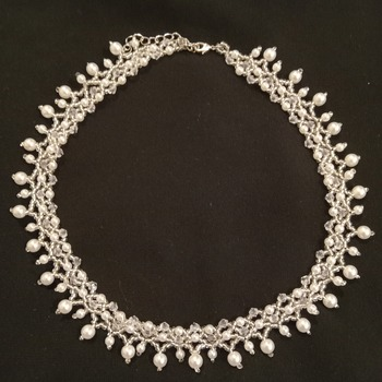 Handmade White Pearl Princess Necklace