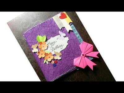 Happy birthday card.handmade birthday card.beautiful birthday card. mini scrapbook for birthday