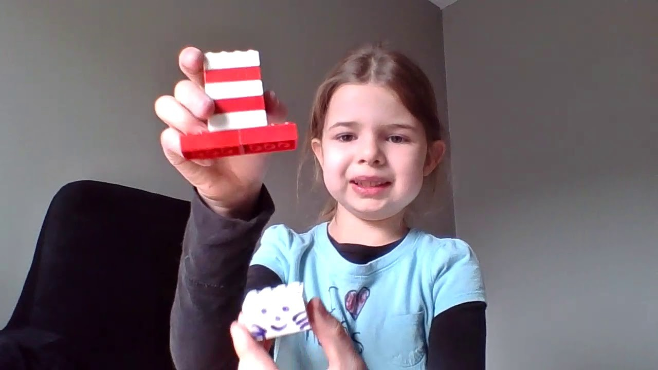 How to build a lego cat in the hat