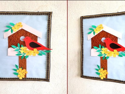 How to decorate your home easily|| DIY wall hanging|| Bird wall hanging decoration ideas