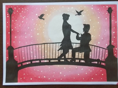 How to draw couples on bridge step by step