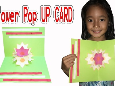 How To Make 3D Flower Pop UP CARD - DIY Paper Flowers With Toturial