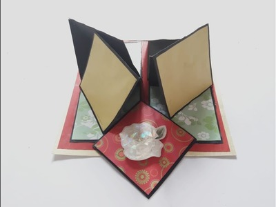 How to make a 4 - way folding card - 65