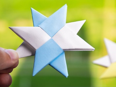 How to Make a Double Ninja Star Easy Origami