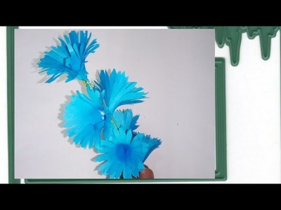 How to make a flower with paper crafts