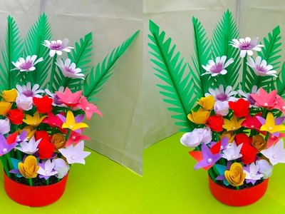 How to make a paper flower bouquet wrapping