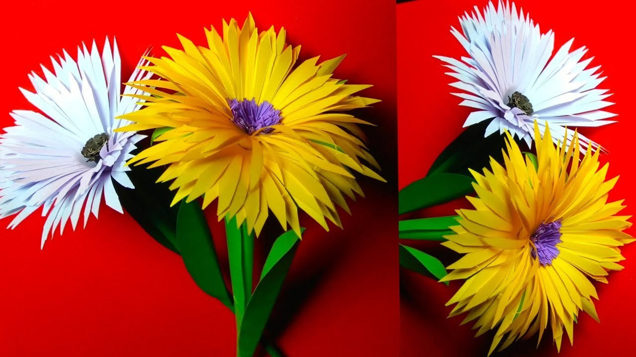 How to make a paper flowers | paper crafts for kids
