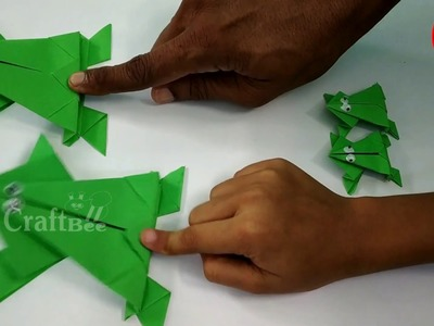 How to make a paper frog that jumps-easy origami