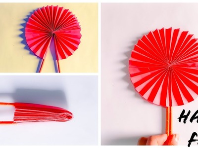 How to make a paper hand fan | The Best Crafts
