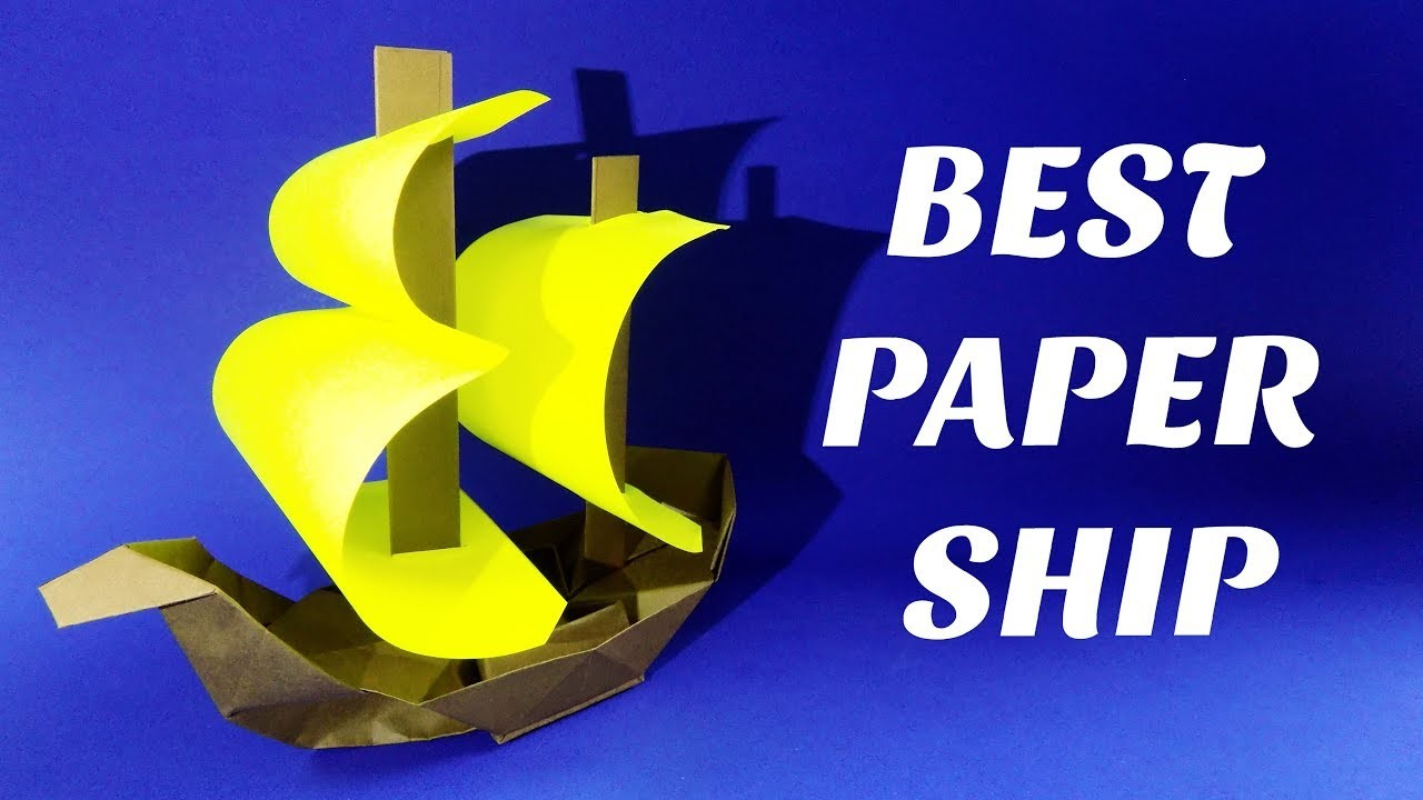 How to make a paper ship. Origami boat