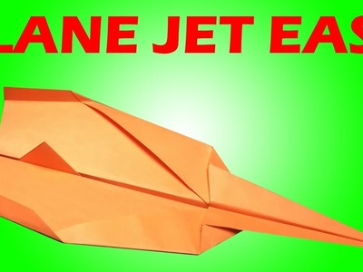 How To Make AIRPLANE JET with Origami Paper Easy   AIRPLANE Tutorial