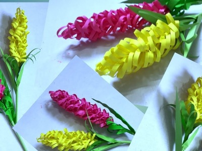 How To Make Beautiful Flower with Paper | DIY Paper Stick Flowers | Kagojer ful