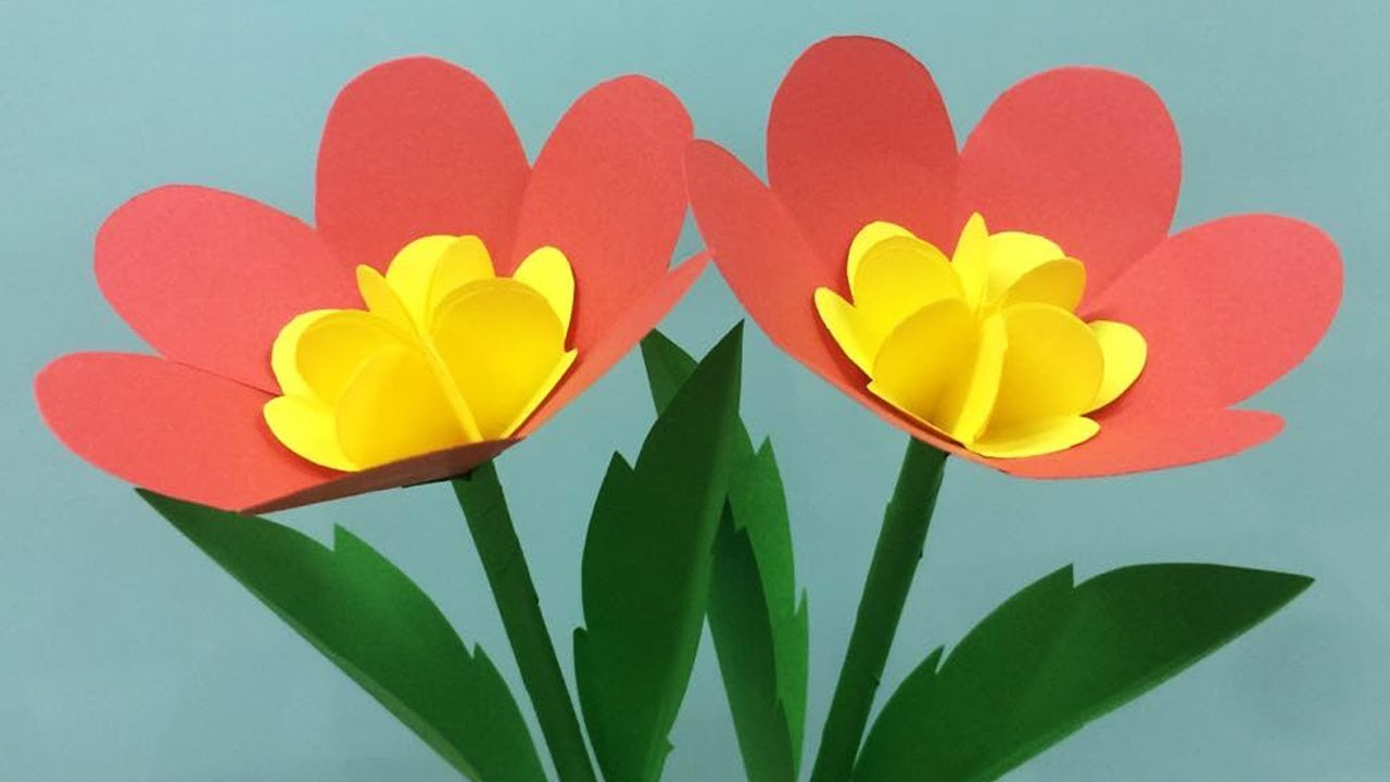 How to Make Beautiful Paper Flower - Making Paper Flowers Step by Step - DIY Paper Flowers